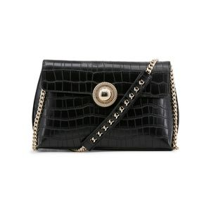 Versace Jeans Black Clutch Evening Bag with Gold
